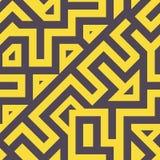 Άνευ ραφής σύγχρονο μπλεγμένο σχέδιο γραμμών Στοκ Εικόνες