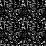 Άνευ ραφής σύμβολα του Παρισιού σχεδίων, ελεύθερη απεικόνιση δικαιώματος