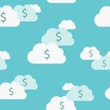 Άνευ ραφής σύννεφα χρημάτων Στοκ φωτογραφία με δικαίωμα ελεύθερης χρήσης