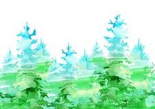 Άνευ ραφής σύνορα μιας ερυθρελάτης Κωνοφόρο δάσος διανυσματική απεικόνιση