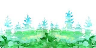 Άνευ ραφής σύνορα μιας ερυθρελάτης Κωνοφόρο δάσος απεικόνιση αποθεμάτων