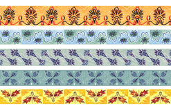 Άνευ ραφής σύνορα χρώματος σχεδίων Διακοσμητική διακόσμηση σχεδίων Στοκ Εικόνα