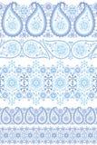 Άνευ ραφής σύνολο συνόρων δαντελλών του χειμερινού Paisley Στοκ Εικόνες