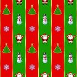 Άνευ ραφής σύσταση για τη συσκευασία Χριστουγέννων Στοκ Φωτογραφίες