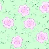 άνευ ραφής σύσταση καρδιών λουλουδιών διανυσματική απεικόνιση