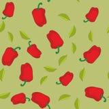 Άνευ ραφής σύσταση 604 κόκκινων πιπεριών Στοκ Εικόνα