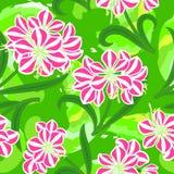 άνευ ραφής σύσταση λουλουδιών amaryllis διανυσματική απεικόνιση