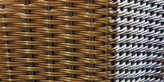 Άνευ ραφής σύσταση λυγαριών/ινδικού καλάμου με δύο πηγές φωτός στοκ εικόνα
