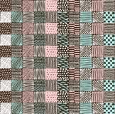 Άνευ ραφής σύσταση με ένα γραφικό σχέδιο των τετραγώνων Στοκ Φωτογραφία