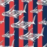 Άνευ ραφής σύσταση με ένα ναυτικό θέμα 30 διανυσματική απεικόνιση
