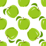 Άνευ ραφής σύσταση με ένα σχέδιο των πράσινων μήλων απεικόνιση αποθεμάτων