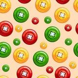 Άνευ ραφής σύσταση με τα κουμπιά διανυσματική απεικόνιση