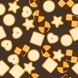 Άνευ ραφής σύσταση με τα μπισκότα Στοκ εικόνα με δικαίωμα ελεύθερης χρήσης