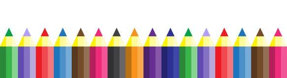 Άνευ ραφής σύσταση με τα πολύχρωμα μολύβια Στοκ εικόνα με δικαίωμα ελεύθερης χρήσης