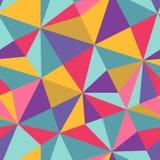 Άνευ ραφής σύσταση με τα τρίγωνα, ατελείωτο σχέδιο μωσαϊκών Αυτός τετράγωνος διανυσματική απεικόνιση