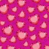 Άνευ ραφής σύσταση με τις ρόδινες καρδιές ελεύθερη απεικόνιση δικαιώματος