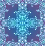 Άνευ ραφής σύσταση με χρωματισμένο φυλετικό Hamsa με το σχέδιο boho απεικόνιση αποθεμάτων