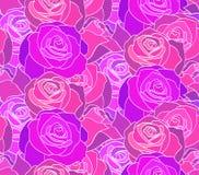 Άνευ ραφής σύσταση νέου με τα τριαντάφυλλα Η ημέρα των νεκρών χρώματος διάφορο διάνυσμα παραλλαγών προτύπων πιθανό διανυσματική απεικόνιση