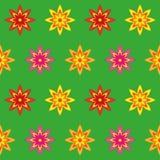 Άνευ ραφής σύσταση λουλουδιών διανυσματική απεικόνιση