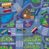 Άνευ ραφής σύσταση, παρόμοια με το χάρτη της πόλης νύχτας διανυσματική απεικόνιση