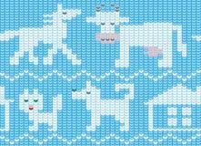 Άνευ ραφής σύσταση που μιμείται να πλέξει, με την εικόνα των κατοικίδιων ζώων απεικόνιση αποθεμάτων
