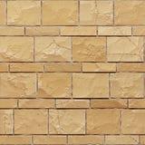 Άνευ ραφής σύσταση του κίτρινου grunge ψαμμίτη brickwall τρισδιάστατος δώστε διανυσματική απεικόνιση