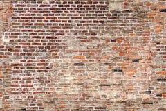Άνευ ραφής σύσταση του παλαιού τουβλότοιχος Στοκ φωτογραφία με δικαίωμα ελεύθερης χρήσης