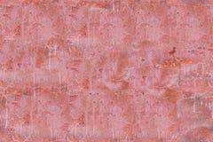 Άνευ ραφής σύσταση του παλαιού βρώμικου κόκκινου τοίχου τσιμέντου Στοκ Εικόνες