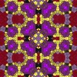 Άνευ ραφής σύσταση του σχεδίου καλειδοσκόπιων μωσαϊκών απεικόνιση αποθεμάτων