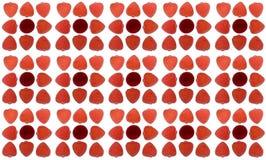 Άνευ ραφής σύσταση των κόκκινων καρδιών μαρμελάδας Στοκ Εικόνες