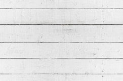 Άνευ ραφής σύσταση υποβάθρου, άσπρος ξύλινος τοίχος Στοκ Φωτογραφίες