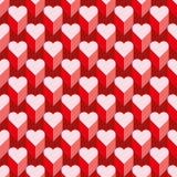 Άνευ ραφής σύσταση υποβάθρου σχεδίων καρδιών ημέρας βαλεντίνων ` s Στοκ Φωτογραφία
