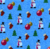 Άνευ ραφής σύσταση υποβάθρου Χριστουγέννων του υφάσματος Στοκ φωτογραφία με δικαίωμα ελεύθερης χρήσης