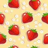 άνευ ραφής σύσταση φραουλών απεικόνιση αποθεμάτων