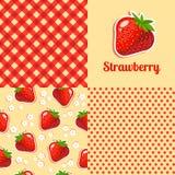 άνευ ραφής σύσταση φραουλών ελεύθερη απεικόνιση δικαιώματος