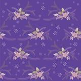 Άνευ ραφής σύσταση χειμερινών floral λουλουδιών Στοκ φωτογραφία με δικαίωμα ελεύθερης χρήσης