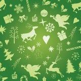 άνευ ραφής σύσταση Χριστουγέννων Στοκ Εικόνες