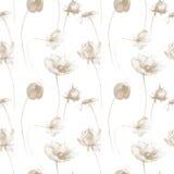 Άνευ ραφής ταπετσαρία με τα λουλούδια διανυσματική απεικόνιση