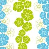 Άνευ ραφής ταπετσαρία με τις μπλε και πράσινες μορφές Στοκ εικόνες με δικαίωμα ελεύθερης χρήσης