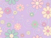 Άνευ ραφής ταπετσαρία λουλουδιών κρητιδογραφιών Στοκ Εικόνες