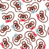 άνευ ραφής ταπετσαρία πίθηκοι προσώπων Στοκ φωτογραφία με δικαίωμα ελεύθερης χρήσης