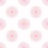 Άνευ ραφής ταπετσαρία σύστασης σχεδίων λουλουδιών τέχνης γραμμών Στοκ Φωτογραφία