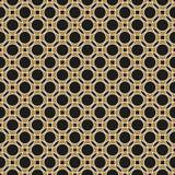 Άνευ ραφής τεμνόμενο γεωμετρικό εκλεκτής ποιότητας χρυσό σχέδιο κύκλων ελεύθερη απεικόνιση δικαιώματος