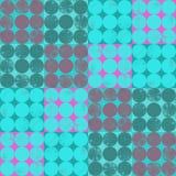 Άνευ ραφής τετράγωνα σχεδίων με τον κύκλο στοκ φωτογραφίες