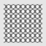 Άνευ ραφής τετραγωνικό bw Στοκ Εικόνα