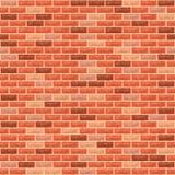 άνευ ραφής τοίχος τούβλου ανασκόπησης απεικόνιση αποθεμάτων