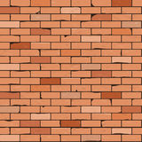 άνευ ραφής τοίχος τούβλου ανασκόπησης Στοκ Εικόνα
