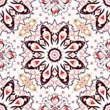 Άνευ ραφής το σχέδιο με τα κόκκινα, πορτοκαλιά και καφετιά χρώματα Στοκ Φωτογραφίες