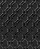 Άνευ ραφής τρισδιάστατο κομψό σκοτεινό σχέδιο 323 τέχνης εγγράφου διαγώνιος κύκλος καμπυλών Απεικόνιση αποθεμάτων