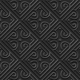 Άνευ ραφής τρισδιάστατο κομψό σκοτεινό σχέδιο 334 τέχνης εγγράφου τετραγωνική στρογγυλή σπείρα Στοκ εικόνες με δικαίωμα ελεύθερης χρήσης